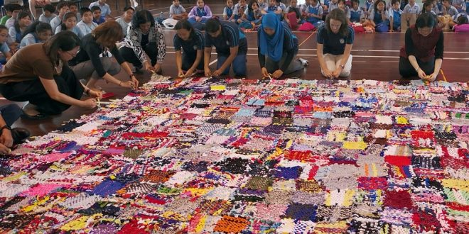 Largest Rug Made From Recycled T-Shirts
