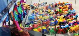 Largest Display Of Handpainted Lion Figurines
