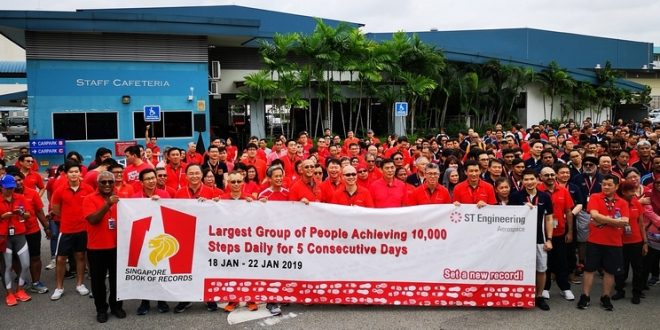 Largest Group Of People Achieving 10,000 Steps Daily For 5 Consecutive Days