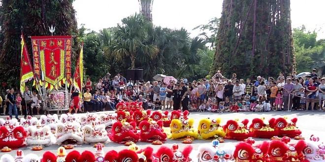 Largest Mass Lion Dance Cai Qing Performance