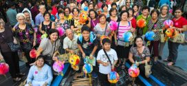 Most Number Of People Walking With Animal-Themed Lanterns