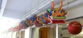 Longest Dragon Sculpture Made Of Paper Plates