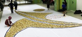 Largest Logo Made Of Paper Fortune Cookies