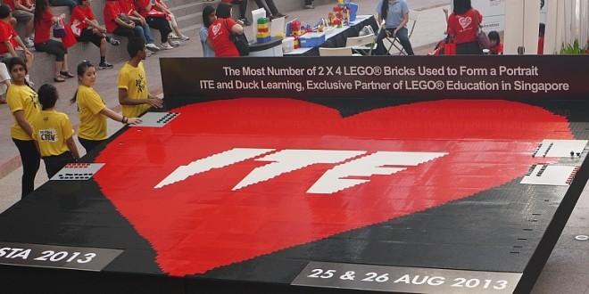 Largest Logo Made Of Lego Bricks
