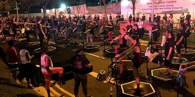 Largest Mass Mini Trampoline Workout