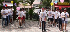 Largest White Cane Walk In Blindfolds