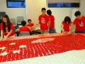 Largest Singapore Flag Formed By Angkukuehs