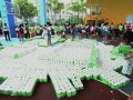 Largest Logo Made Of Toilet Rolls