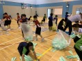 largest text formation made of paper airplanes (10)
