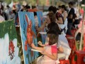 longest-line-of-painters-with-their-paintings-14