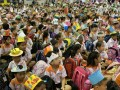 most number of people wearing handmade hats (1)