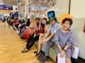 most number of people wearing handmade hats (15)
