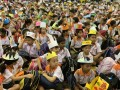 most number of people wearing handmade hats (2)