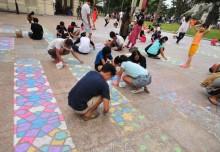 Largest Chalk Art