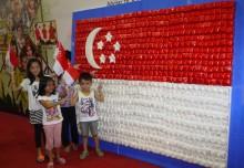 Largest National Flag Made Of Ribbon Ketupat