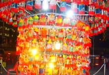 Largest Lantern Made Of Handpainted Plastic Bottles