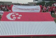 Largest National Flag Made Of Milk Bottles