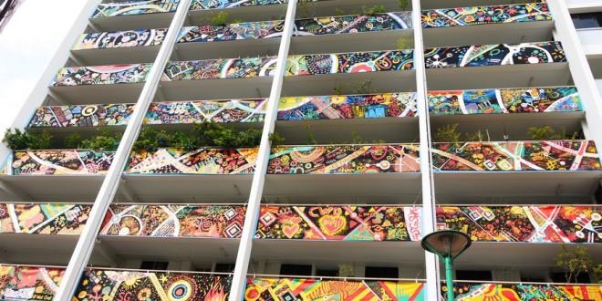 Largest Canvas Art Installation On An Apartment Block
