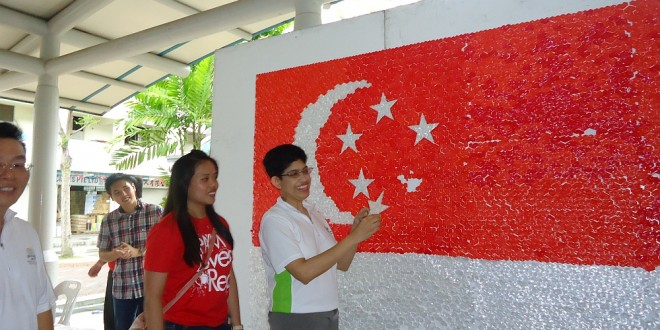 Largest National Flag Made Of Straw Hearts