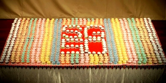 Largest Logo Made Of Towel Cupcakes