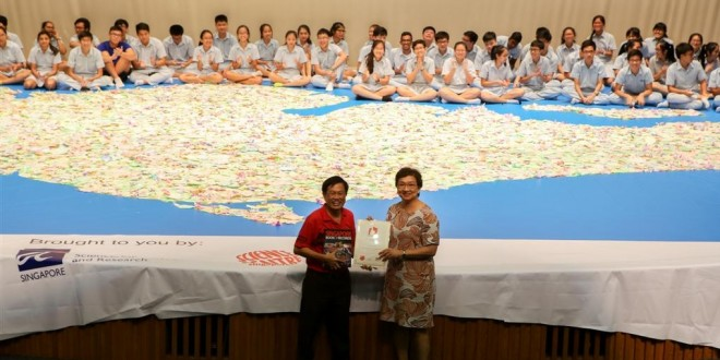 Largest Singapore Map Made Of Chromatography Paper