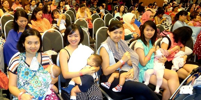 Most Number Of Mothers Breastfeeding Together