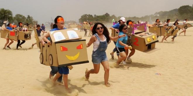 Largest Wearable Cardboard Box Race