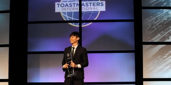 First Singaporean World Champion Of Public Speaking