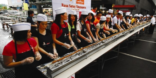 World's Longest Satay Line