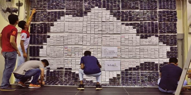 Largest Singapore Map Made Of Origami Bricks