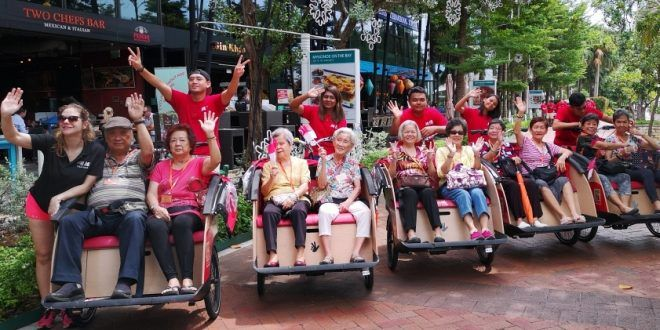 Largest Group Of Seniors On A Trishaw Outing