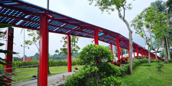 Longest Sheltered Walkway Fitted With Solar Panels