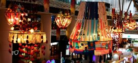 Largest Display Of Chandeliers Made Of Recycled Materials