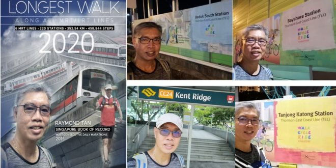 Longest Walk Along All MRT & LRT Lines