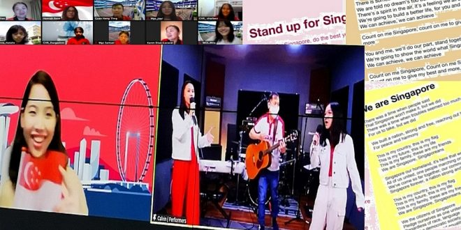 Most Number Of People Singing National Day Songs Together Online