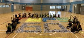Largest Word Formation Made Of Origami Airplanes