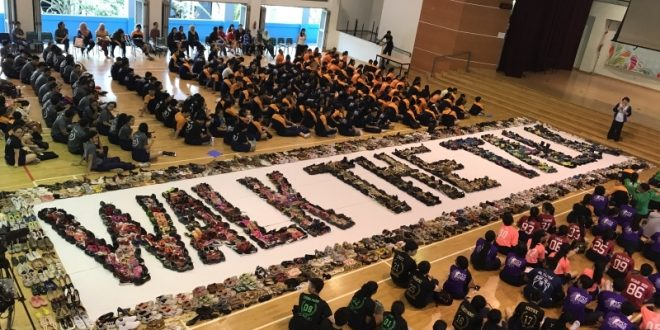 Largest Word Formation Made Of Shoes